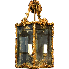 A continental decorative three light lantern
