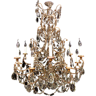 An unusual Italian wrought iron chandelier