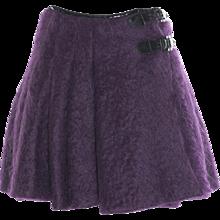 Jean Paul Gaultier Purple Mohair Skirt
