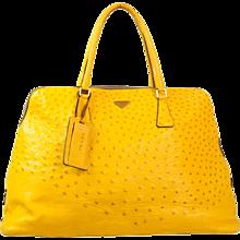 Prada Yellow Ostrich bag