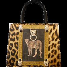 Carlo Zini Milano Printed Cheetah bag