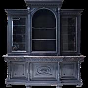 Large Napoleon III Ebonized Bookcase - France, 1800s