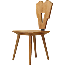 Set of 8 Art Deco Style Dining Chairs - France, Circa 1950s-1960s
