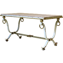 Poillerat Attributed Art Deco Coffee Table - France, 1940s