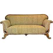 """Scrolling """"Serpent"""" Settee - France, 19th Century"""