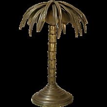 Heavy Brass Palm Tree Lamp - France, circa 1900s