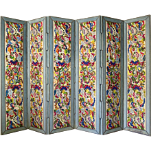 Six-Panel Tapestry-Upholstered Screen - France, 1940s