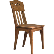 Six Arts & Crafts Style Oak Chairs by Léon Jallot - France, Early 1900s