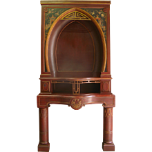 Spectacular Chinoiserie Fireplace - France, Early 1900s