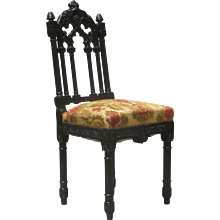 6 Gothic Revival Dining Chairs - France, Circa Late 19th Century