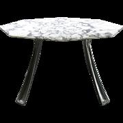 Cast Aluminium and Marble Table by Charron - France, 1970s