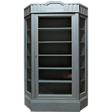 Painted Vitrine with Canted Corners - France, circa 1920s