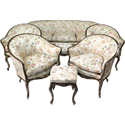 Venetian Seven-Piece Louis XV Style Living Room Set - Italy, 18th Century