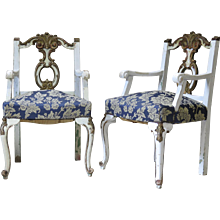 Pair of Louis XV Style Armchairs - France, Early 1900s