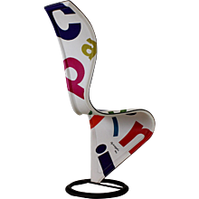 Signed Limited Edition S-Chair by Tom Dixon for Cappellini (Signed by Giulio Cappellini)