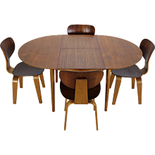 Dining Set in Teak and Birchwood by Cees Braakman for UMS Pastoe Holland
