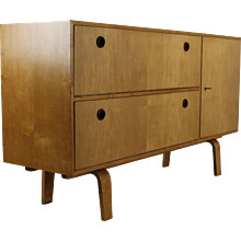 Small and low Sideboard by W. Lutjens for Den Boer Gouda Holland
