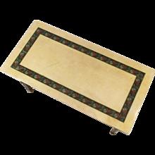 Aldo Tura lacquered goatskin coffeetable