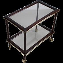 Elegant Italian glass tea serving trolley