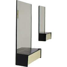 Industrial wall mirrors with small storage