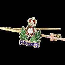 Mid Century Intelligence Corps Enamel Pin Brooch, circa 1950