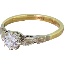 Art Deco 0.36 Carat Old Cut Diamond Engagement Ring, circa 1925