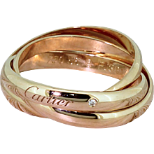 CARTIER Rose Gold Russian Wedding Ring