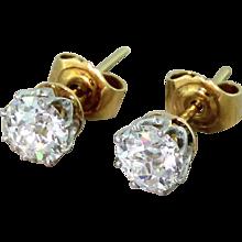 Art Deco 1.60 Carat Old Cut Diamond Stud Earrings, circa 1935