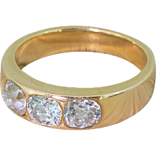 Victorian 1.40 Carat Old Cut Diamond Trilogy Ring, circa 1900