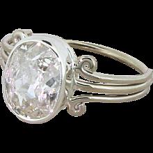 Art Deco 2.03 Carat Old Oval Cut Diamond Engagement Ring, circa 1935