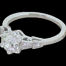 Art Deco 0.80 Carat Old Cut Diamond Engagement Ring, circa 1930