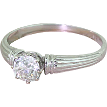 Art Deco 0.63 Carat Old Cut Diamond Engagement Ring, circa 1925