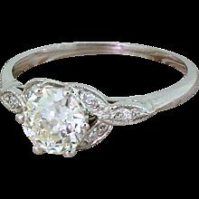 Edwardian 1.01 Carat Old Cut Diamond Engagement Ring, circa 1910