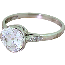 Art Deco 1.26 Carat Old Cut Diamond Engagement Ring, circa 1925