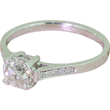 Art Deco 0.75 Carat Old Cut Diamond Engagement Ring, circa 1940