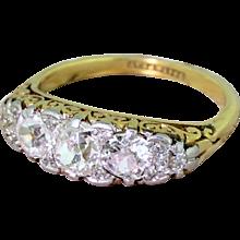 Edwardian 2.50 Carat Old Cut Diamond Five Stone Ring, circa 1905