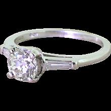 Art Deco 1.22 Carat Old Cut Diamond Engagement Ring, circa 1935