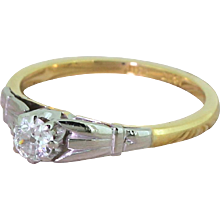 Art Deco 0.25 Carat Old Cut Diamond Engagement Ring, circa 1935