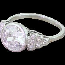 Art Deco 2.00 Carat Old Cut Diamond Engagement Ring, circa 1930