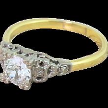Edwardian 0.66 Carat Old Cut Diamond Engagement Ring, circa 1910