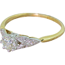 Art Deco 0.53 Carat Old Cut Diamond Engagement Ring, circa 1915