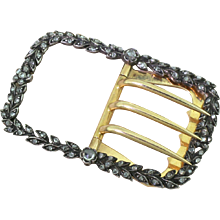 Victorian 0.93 Carat Rose Cut Diamond Buckle, circa 1880
