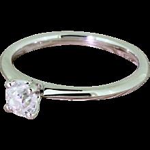 0.50 Carat Old Cut Diamond Engagement Ring, Platinum