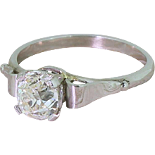 Art Deco 1.11 Carat Old Cut Diamond Engagement Ring, circa 1925