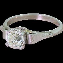 Art Deco 1.11 Carat Old Cut Diamond Engagement Ring, circa 1925
