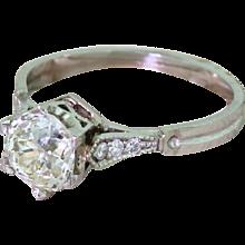 Art Deco 1.08 Carat Old Cut Diamond Engagement Ring, circa 1930