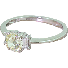 Late 20th Century 0.73 Carat Old Cut Diamond Engagement Ring, Scottish, circa 1970