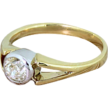 Art Deco 0.51 Carat Old Cut Diamond Engagement Ring, circa 1935