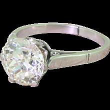 Art Deco 2.31 Carat Old Cut Diamond Engagement Ring, circa 1920