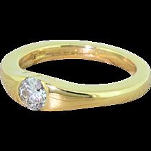 BOODLES 0.32 Carat Round Brilliant Diamond Solitaire Ring, 18k Gold